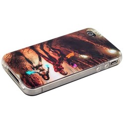 Чехол-накладка UV-print для iPhone 4S/ 4 силикон (кино и мультики) тип 21