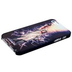Чехол-накладка UV-print для iPhone SE/ 5S/ 5 пластик (арт) тип 73