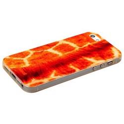 Чехол-накладка UV-print для iPhone SE/ 5S/ 5 силикон (шкурки животных) тип 33
