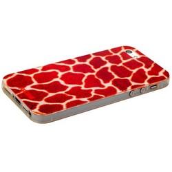 Чехол-накладка UV-print для iPhone SE/ 5S/ 5 силикон (шкурки животных) тип 34