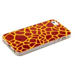 Чехол-накладка UV-print для iPhone SE/ 5S/ 5 силикон (шкурки животных) тип 45