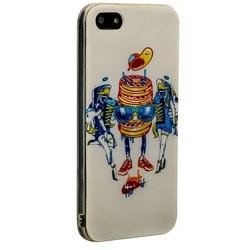 Чехол-накладка UV-print для iPhone SE/ 5S/ 5 силикон (арт) тип 009