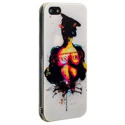 Чехол-накладка UV-print для iPhone SE/ 5S/ 5 силикон (18+) тип 35