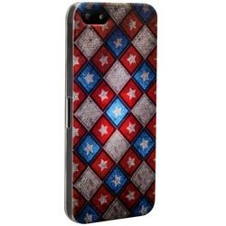 Чехол-накладка UV-print для iPhone SE/ 5S/ 5 пластик (узоры) тип 30
