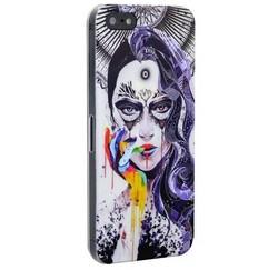 Чехол-накладка UV-print для iPhone SE/ 5S/ 5 пластик (арт) тип 153