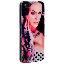 Чехол-накладка UV-print для iPhone SE/ 5S/ 5 пластик (18+) тип 50