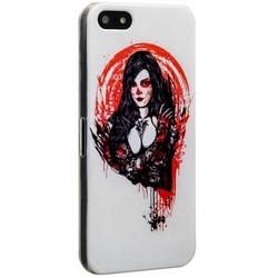 Чехол-накладка UV-print для iPhone SE/ 5S/ 5 пластик (18+) тип 003