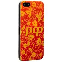 Чехол-накладка UV-print для iPhone SE/ 5S/ 5 пластик (цветы) тип 53