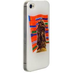 Чехол-накладка UV-print для iPhone 4S/ 4 силикон (праздники) тип 003