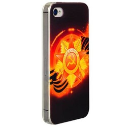 Чехол-накладка UV-print для iPhone 4S/ 4 силикон (праздники) тип 005