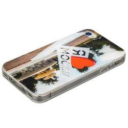 Чехол-накладка UV-print для iPhone 4S/ 4 силикон (города) тип 002