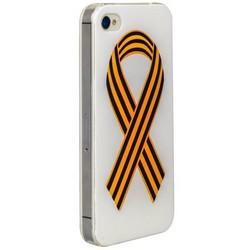 Чехол-накладка UV-print для iPhone 4S/ 4 силикон (праздники) тип 001