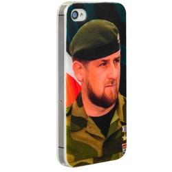 Чехол-накладка UV-print для iPhone 4S/ 4 силикон (тренд) Рамзан Кадыров тип 002