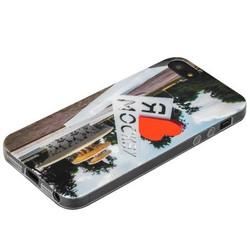 Чехол-накладка UV-print для iPhone SE/ 5S/ 5 силикон (города) тип 002