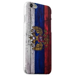 Чехол-накладка UV-print для iPhone 6s Plus/ 6 Plus (5.5) пластик (гербы и флаги) Флаг России тип 001