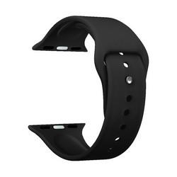 Ремешок силиконовый Deppa Band Silicone D-47122 для Apple Watch 40мм/ 38мм Черный