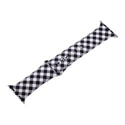 Ремешок силиконовый COTEetCI W45 Color (WH5278-BW) для Apple Watch 40мм/ 38мм Black and white grid Черно-белая клетка