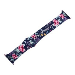 Ремешок силиконовый COTEetCI W38 Flowers (WH5265-BRR) для Apple Watch 40мм/ 38мм Blue peony Голубой пион