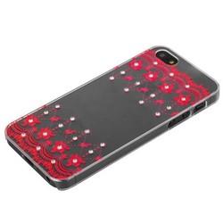 Чехол-накладка Creative для iPhone SE/ 5S/ 5 пластик со стразами тип 10