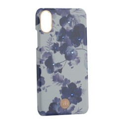 """Чехол-накладка KINGXBAR для iPhone XS/ X (5.8"""") пластик со стразами Swarovski (Орхидея)"""