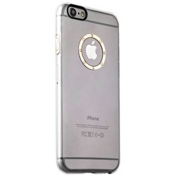 Накладка пластиковая iBacks Transparent Case with Diamond Ring для iPhone 6s/ 6 (4.7) - (ip60217) Champagne Gold Ring
