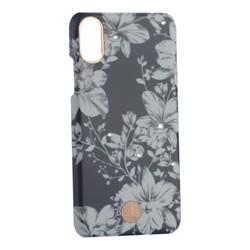 """Чехол-накладка KINGXBAR для iPhone XS/ X (5.8"""") пластик со стразами Swarovski (Лилия)"""
