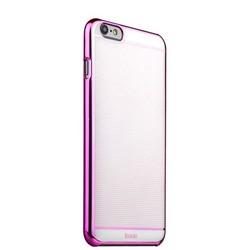 Накладка пластиковая ультра-тонкая iBacks iFling Colorful Electroplating PC для iPhone 6s Plus (5.5) - (ip60206) Pink/ White