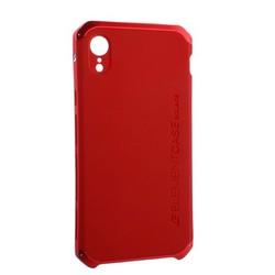 """Чехол-накладка противоударный (AL&Pl) для Apple iPhone XR (6.1"""") Solace Красный (красный ободок)"""