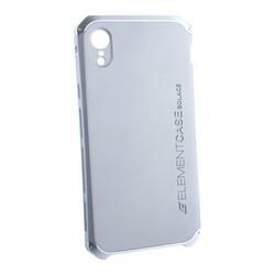 "Чехол-накладка противоударный (AL&Pl) для Apple iPhone XR (6.1"") Solace Серебристый (серебристый ободок)"