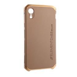 """Чехол-накладка противоударный (AL&Pl) для Apple iPhone XR (6.1"""") Solace Золотистый (золотистый ободок)"""