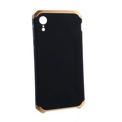 """Чехол-накладка противоударный (AL&Pl) для Apple iPhone XR (6.1"""") Solace Черный (золотистый ободок)"""