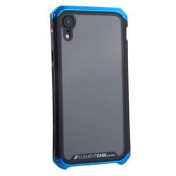 """Чехол-накладка противоударный (AL&Glass) для Apple iPhone XR (6.1"""") G-Solace сине-черный ободок"""