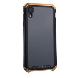 """Чехол-накладка противоударный (AL&Glass) для Apple iPhone XR (6.1"""") G-Solace золотисто-черный ободок"""
