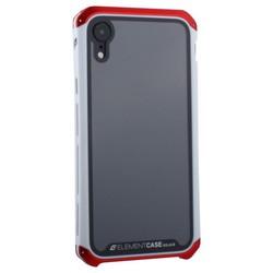"Чехол-накладка противоударный (AL&Glass) для Apple iPhone XR (6.1"") G-Solace красно-белый ободок"