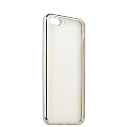 Чехол силиконовый для iPhone 8 Plus/ 7 Plus (5.5) супертонкий с серебристым ободком в техпаке