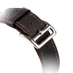 Ремешок кожаный COTEetCI W8 DECOROUS (WH5207-GY) для Apple Watch 40мм/ 38мм (классическая пряжка) Темно-серый