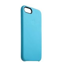 """Чехол-накладка кожаная Leather Case для iPhone SE (2020г.)/ 8/ 7 (4.7"""") Blue - Голубой"""