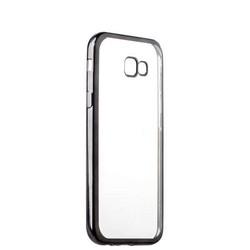 Чехол силиконовый для Samsung GALAXY A7 SM-A720F (2017 г.) супертонкий с графитовым ободком в техпаке