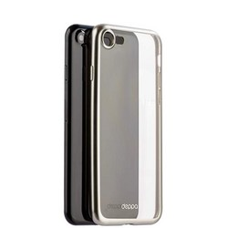 Чехол-накладка силикон Deppa Gel Plus Case D-85282 для iPhone SE (2020г.)/ 8/ 7 (4.7) 0.9мм Серебристый матовый борт