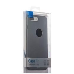 Чехол-накладка пластик Soft touch Deppa Air Case D-83274 для iPhone 8 Plus/ 7 Plus (5.5) 1мм Графитовый