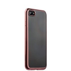 Чехол-накладка силикон Deppa Gel Plus Case D-85257 для iPhone SE (2020г.)/ 8/ 7 (4.7) 0.9мм Розовое золото глянцевый борт