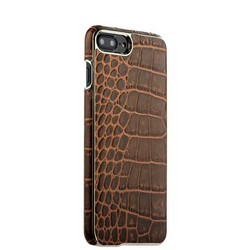 "Накладка кожаная XOOMZ для iPhone 8 Plus/ 7 Plus (5.5"") Electroplating Crocodile Embossed Genuine (XIP7010br) Коричневая"