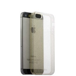 Чехол-накладка силикон Deppa Chic Case с блестками D-85291 для iPhone SE/ 5S 0.8мм Золотистый