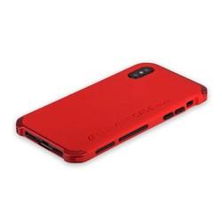 """Чехол-накладка противоударный (AL&Pl) для Apple iPhone XS/ X (5.8"""") Solace Красный (красный ободок)"""