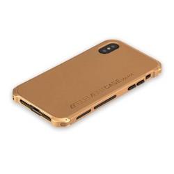 """Чехол-накладка противоударный (AL&Pl) для Apple iPhone XS/ X (5.8"""") Solace Золотистый (золотистый ободок)"""