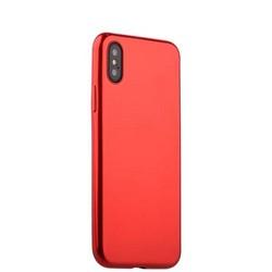 """Чехол-накладка силиконовый J-case Shiny Glazed Series 0.5mm для iPhone XS/ X (5.8"""") Jet Red Красный"""
