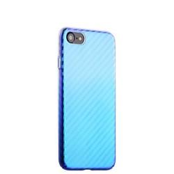 """Чехол-накладка пластиковый J-case Colorful Fashion Series 0.5mm для iPhone SE (2020г.)/ 8/ 7 (4.7"""") Голубой оттенок"""