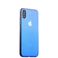 "Чехол-накладка пластиковый J-case Colorful Fashion Series 0.5mm для iPhone XS/ X (5.8"") Голубой оттенок"