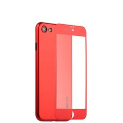 Чехол-накладка супертонкая Coblue Slim Series PP Case & Glass (2в1) для iPhone SE (2020г.)/ 8/ 7 (4.7) Красный