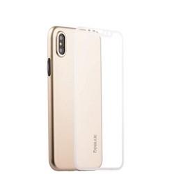 """Чехол-накладка супертонкая Coblue Slim Series PP Case & Glass (2в1) для iPhone XS/ X (5.8"""") Золотистый"""